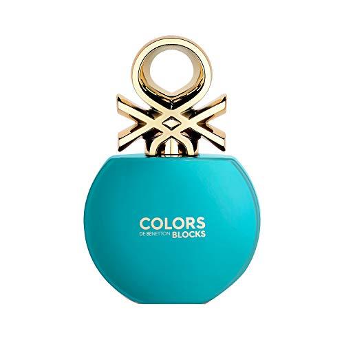 Best United Colors of Benetton Colors Blocks Blue Eau De Toilette For Her, 80 ml