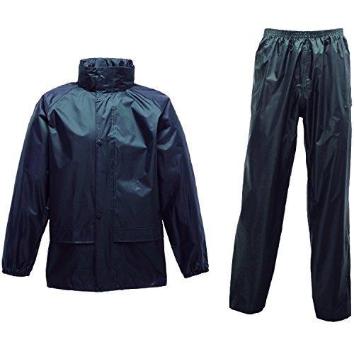 Regatta Mens 2 Piece Waterproof Rain Suit TRW467 Green