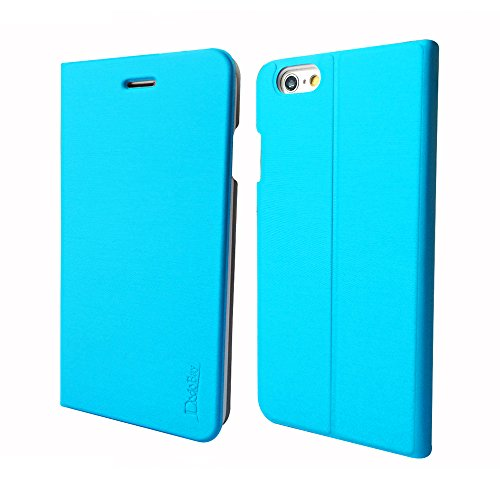 """DodoBay® High Quality Luxury Ultra Slim Fit Flip Folio PU Leather Case Cover Wallet Folding Stand with Credit Card Slot for Apple iPhone 6 4.7"""" - Sky Blue"""