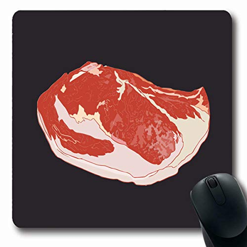 LifeCO Computer Mousepads Angus Red Marbling Premium Meat Grade Marble Kobe Beef Dinner Sketch Food Drink Wagyu Barbecue BBQ Oblong Shape 7.9 x 9.5 Inches Oblong Gaming Mouse Pad Non-Slip Rubber