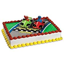 ELMO Cookie MONSTER Car Racers Sesame Street Party Cake Decoration Topper Set by Lgp