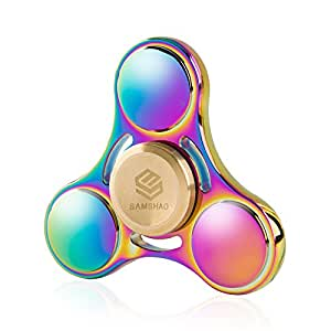 Fidget Spinner SAMSHAO 2017 Newest Rainbow Colorful Tri-Spinner Finger Toy High Speed Stainless Bearing Fidget EDC Up To 6 mins(Only For SAMSHAO Company)