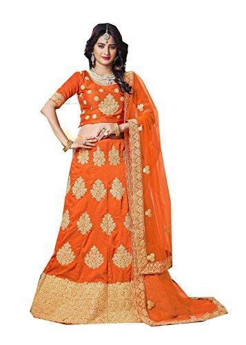 Indian Designer Partywear Ethnic Traditional Orange Lehenga Choli