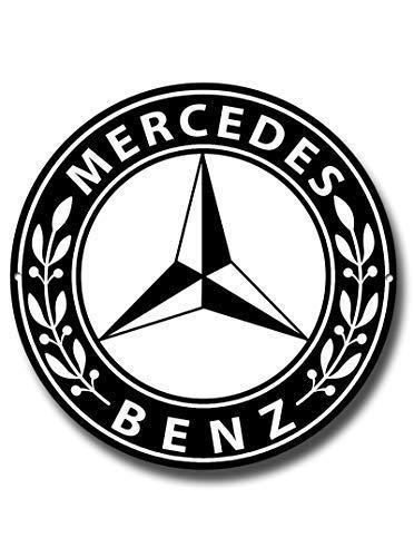 Mercedes Benz Calidad Orund Letrero Metal