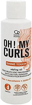 Oh! My Curls - Aceite Multiusos Revitalizador de Rizos - Aceite Profesional Multiusos para Cabellos Rizados y Secos - Con Aceite de Jojoba, Macadamia y Argán - 125 ml