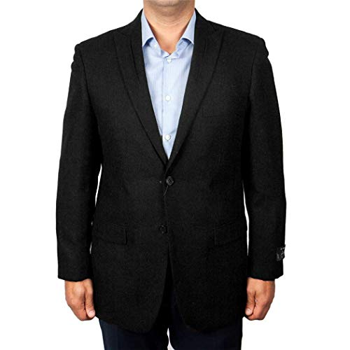 - ZeGarie Mens Black 2 Button Slim Fit Wool Sport Coat Jacket Blazer New (40L Regular)