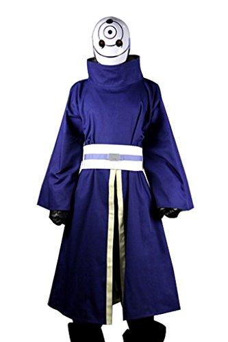 Mtxc Men's Naruto Cosplay Costume Madara Uchiha Outfit 2nd Size XXX-Large Blue