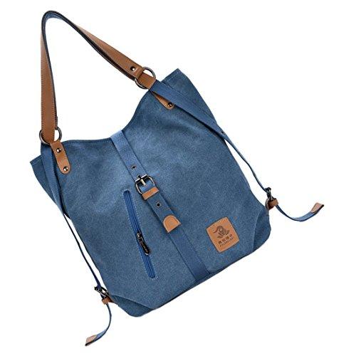 Toogoo Ocasional Mensajero © Bolsa Lienzo Azules De Mujer £ £ r Multifuncional En Moda pwqwdx