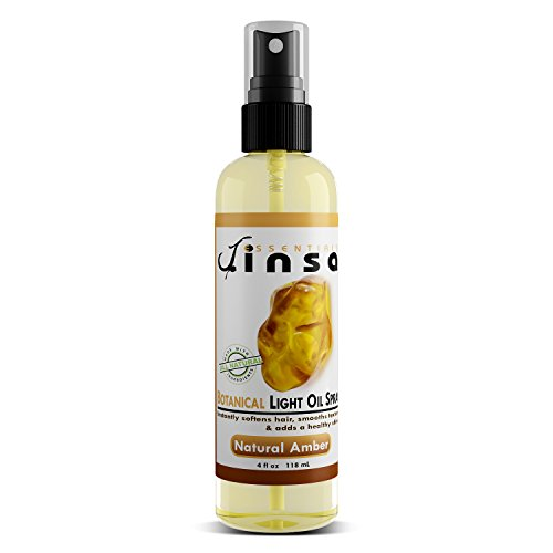 Jinsa Essentials | Botanical Light Oil Spray | 100% Natural Vegetable Ingredients | Moisturizes Without Build-Up Adds A Beautiful Shine | Leaves A Wonderful Scent - Amber