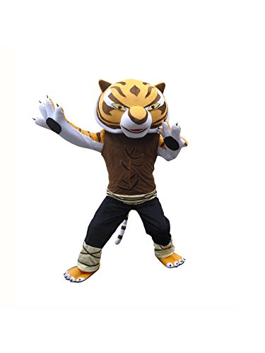 Sinoocean Tigress Tiger Of Kung Fu Panda Adult Mascot Costume Cosplay Fancy Dress