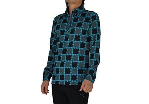PUMA(プーマ) ゴルフL/Sパターンポロ メンズ ポロシャツ(長袖) スキューバブルー 903976-02 Sサイズ