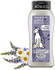 Wahl Canada Four in One Dog Shampoo & Conditioner, Plant Derived Shampoo in Lavender Chamomile, to Clean,