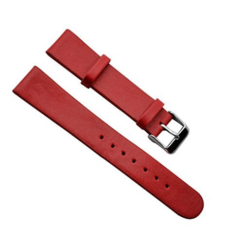 18mm-regular-replacement-silver-buckle-genuine-plain-leather-watch-strap-watch-band-red