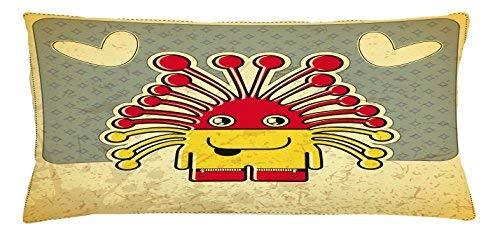 King65irginia - Funda de cojín divertida, diseño de monstruo ...