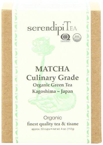 SerendipiTea Matcha Culinary Grade, Organic Green Tea, 4-Ounce Box by SerendipiTea