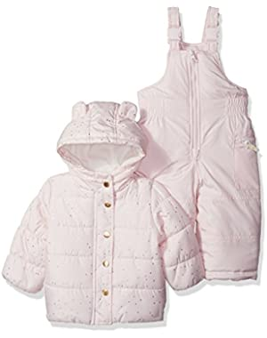 Baby Girls' Infant Heavyweight 2 Pc Snowsuit with Ears