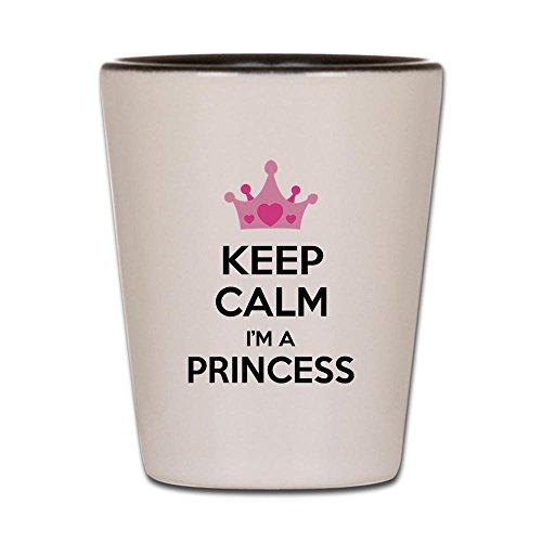 CafePress - Keep Calm I'm A Princess - Shot Glass, Unique and Funny Shot Glass (Glass Shot Princess)