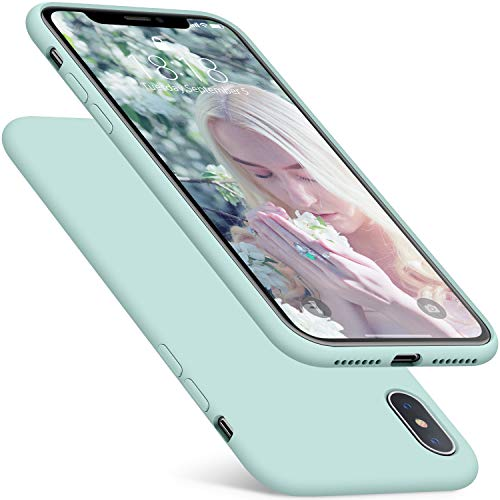 - iPhone XS Max Case, DTTO 7 Colors Silicone Case [Romance Series] Slim Fit Cover with Hybrid Protection for Apple iPhone 10s Max 6.5 Inch (2018 Released) -Mint Green