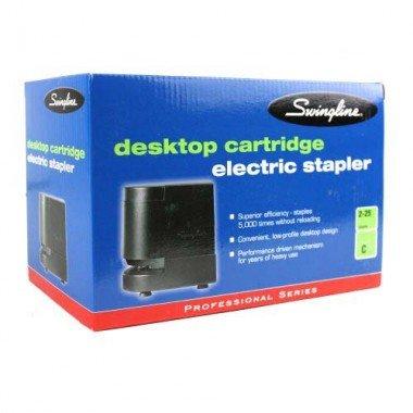 SWINGLINE 50201 Desktop Cartridge Electric Stapler, 25-Sheet Capacity, Black