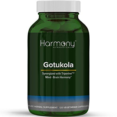 Stimulant Free Energy Tonic - Gotukola Gotu Kola Ayurvedic Natural Energy Memory 120 Vegetarian Organic Soy-Free Dairy-Free Gluten-Free Capsules