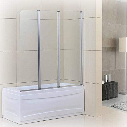 Goodyo - Puerta de ducha de cristal pivotante con bisagras de 129 ...
