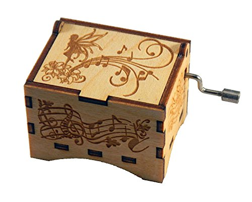 "Personalizable Music Box, ""You Are My Sunshine"", Laser Engraved Birch Wood (Fairy Standard)"
