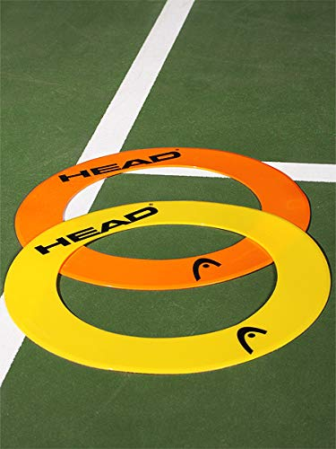 (HEAD QST Tennis Ring Targets - 6 Training & Practice Tools for Improving Accuracy & Precision)