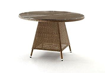 Amazon De Destiny Tisch Sevilla Gartentisch 120 Cm Rund Polyrattan