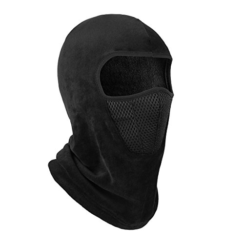 OMECHY Balaclava Windproof Ski Mask Outdoor Cold Weather Face Mask Motorcycle Neck Warmer Tactical Hood, Black Mesh One size (Cold Weather Neck Fleece)
