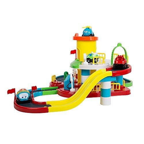 ColorTree Kids駐車場おもちゃスマートトラックレール車DIYマルチトラック