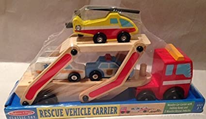 Melissa Doug Classic Toy Rescue Vehicle Carrier