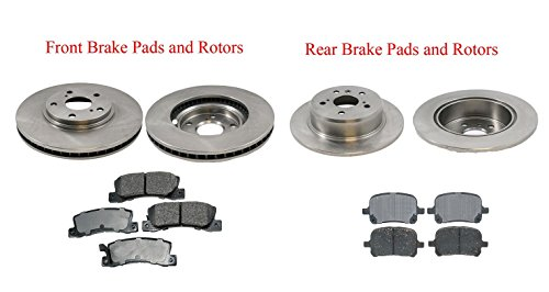 Front Rear Brake Rotors & Ceramic Pads For 1999-2003 Lexus RX300 4X4 All Wheel Drive