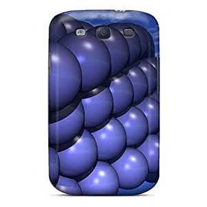 Fashionable Style Cases Covers Skin For Galaxy S3- Spherical Blue 3d