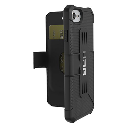 UAG Folio iPhone 8 / iPhone 7 / iPhone 6s [4.7-inch Screen] Metropolis Feather-Light Rugged [Black] Military Drop Tested iPhone Case