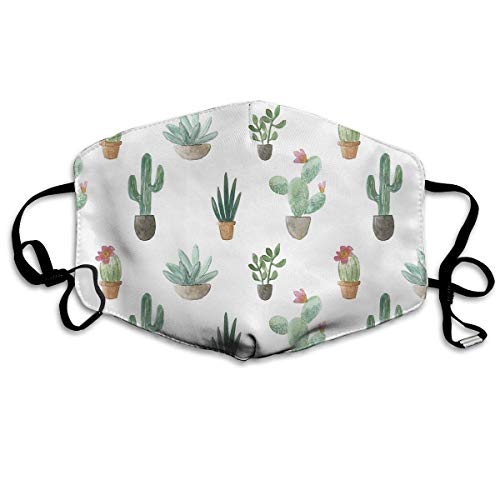 Cacti Collection Dust,Face Mask Washed,Reusable Outdoor Activities Windproof 7 X 4.3 Inch Mouth Masks