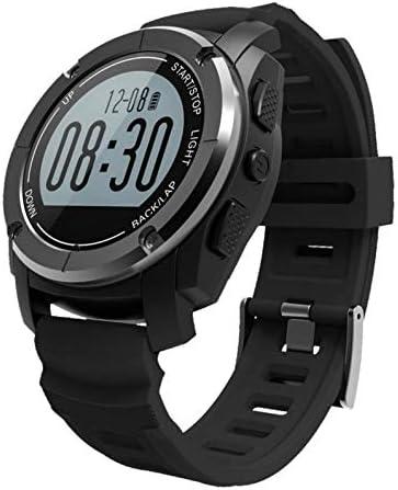 HoEOQeT Smart Watch S928 Bluetooth Deportes al Aire Libre Reloj GPS Reloj Deportivo Profesional Bluetooth Reloj Inteligente (Color : Negro)