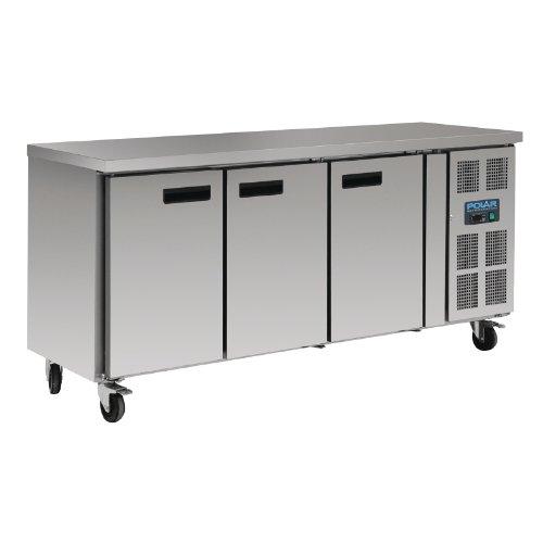 Tisch Kühlfunktion 417L Polar 3Türen, Tiefe 700mm, kompatibel gastronorme,