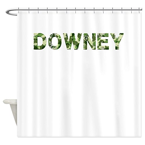 CafePress - Downey, Vintage Camo, - Decorative Fabric Shower - Target Downey