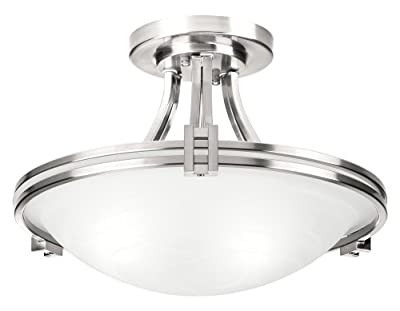 "Possini Euro Design Nickel 16"" Wide Ceiling Light Fixture"