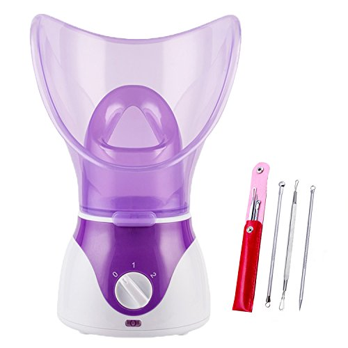Beauty Nymph Spa Home Facial Steamer Sauna Pores with Timer and Extract Blackheads, Rejuvenate and Hydrate Your Skin for Youthful Complexion- Face Steaming Skincare Deep Cleanse SPA (Purple A)