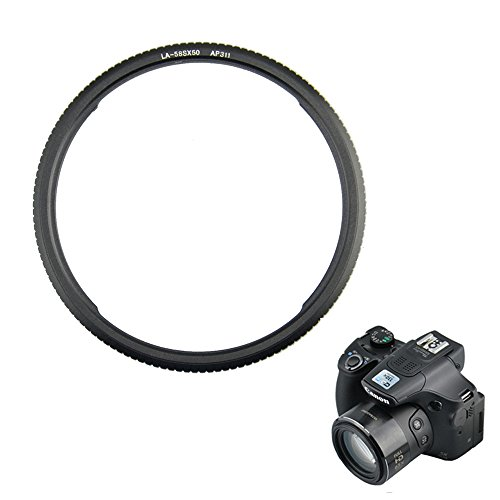 Filter Adapter Kiwifotos Lens Ring Adapter for Canon PowerShot SX70 HS SX530 HS SX60 HS SX50 HS SX520 HS Providing a 58mm Filter - Adapter Canon 58mm