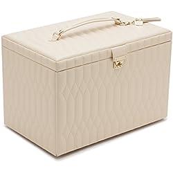 WOLF 329553 Caroline Extra Large Jewelry Case, Ivory
