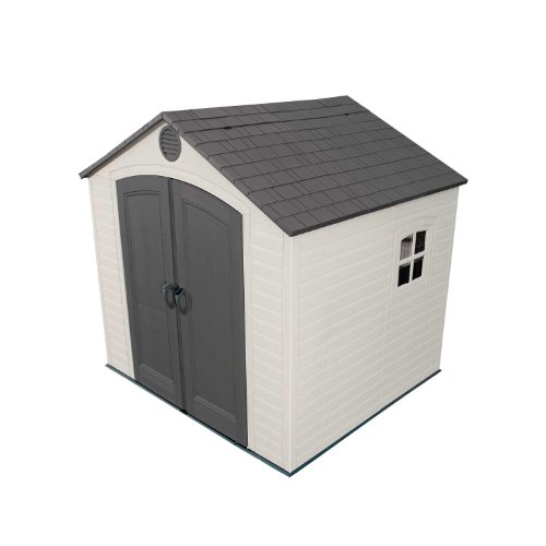 Lifetime 6411 Outdoor Storage Shed with Window, 8 by 7.5 Feet (7.5' Outdoor Storage Shed)