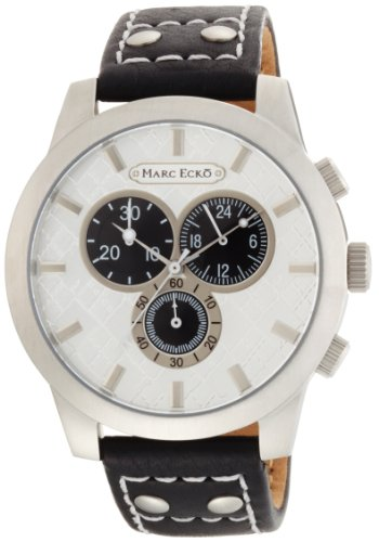Marc Ecko Men's E14539G1 The Prescott Chronograph Silver Dial Watch
