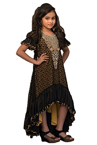 Kolkozy Fashion Kid's Partywear Maxi Dress Size 6-7 Years by Kolkozy Fashion