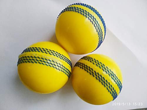 CE Rhino Seam Synthetic Cricket Ball, Standard Size,  Yellow