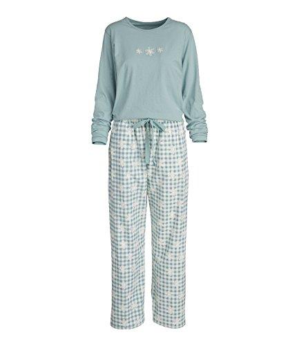 Woolrich Women's Flannel Jacquard Pajama Set, AQUIFER SNO...