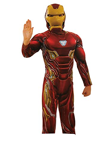 Iron Man, Hulk, Spiderman Infinity Wars Costume, Halloween, Birthday Present Pajamas (Ironman, Large)