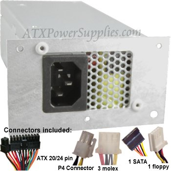 Genuine ATXPowerSupplies 250W Power Supply upgrade for Delta DPS-220UB A, Liteon PS-5221-9, PS-5221-06, Acer Aspire X1420, X1420G, X1920, X3400G, Z3101, Z3730, Z3731, Z3751, Z3761, Z5101, Z5751, Z5760, Z5761, X3810, X5810, X1700, X1200, X1301, X1400, X1800, X1900, X3100, X3200, X3300, X3400, X3812x, X3910, X3950, Z3100 Veriton X275, X480G, AC35357, 3500, 3500G, X270, Power FH, PY.22009.003, PY.22009.006, PY.2200B.001, Chicony CPB09-D220R, Emachine EL1200, EL1210, EL1333, EL1333G, EL1352, EL1352G, EL1358, EL1358G, EL1850G, EL1852, EL1852G, EL1300, EL1300G, EL1321, EL1331, EL1331G, EL1833, EL1850, L1210, Gateway One Z3760, ZX4931, ZX4951, ZX6951, Gateway SX2851, L1200, EL1600, L1700, SX2300, SX2310, SX2311, SX2800, SX2801, SX2802, SX2840, SX2841, SX2850