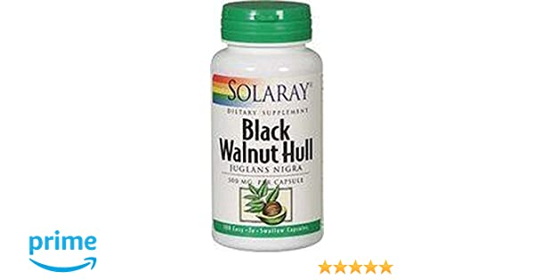Nogal Negro (Black Walnut Hull) 100 cápsulas de 500 mg de Solaray: Amazon.es: Salud y cuidado personal